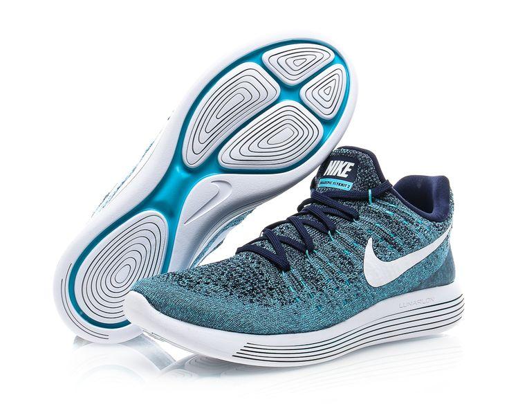 Nike - Lunarepic Low Flyknit 2 - Blå/Vit