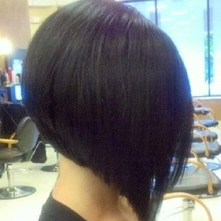 Stacked angled bob side view. LOVE my new haircut! :)