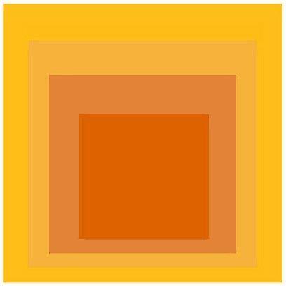 Joseph Albers: The geometry of colors...
