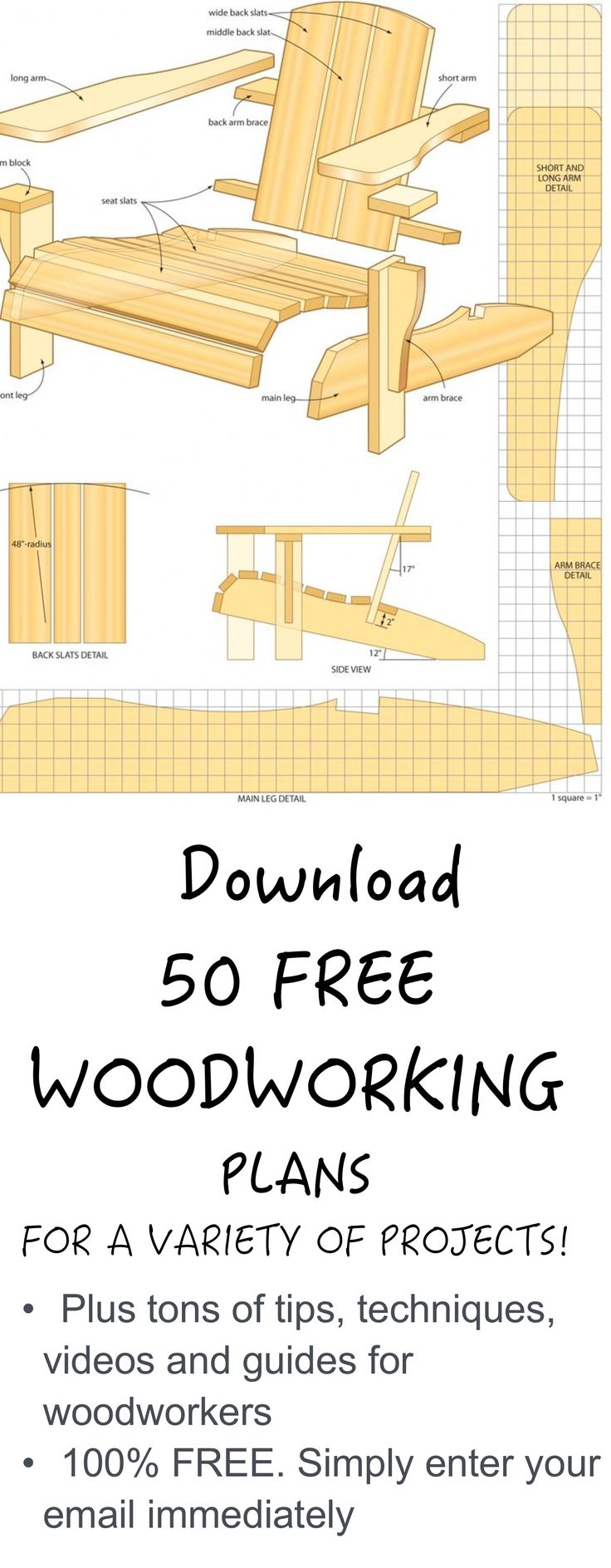 Download free woodworking plans. Just enter your email to download immediately.