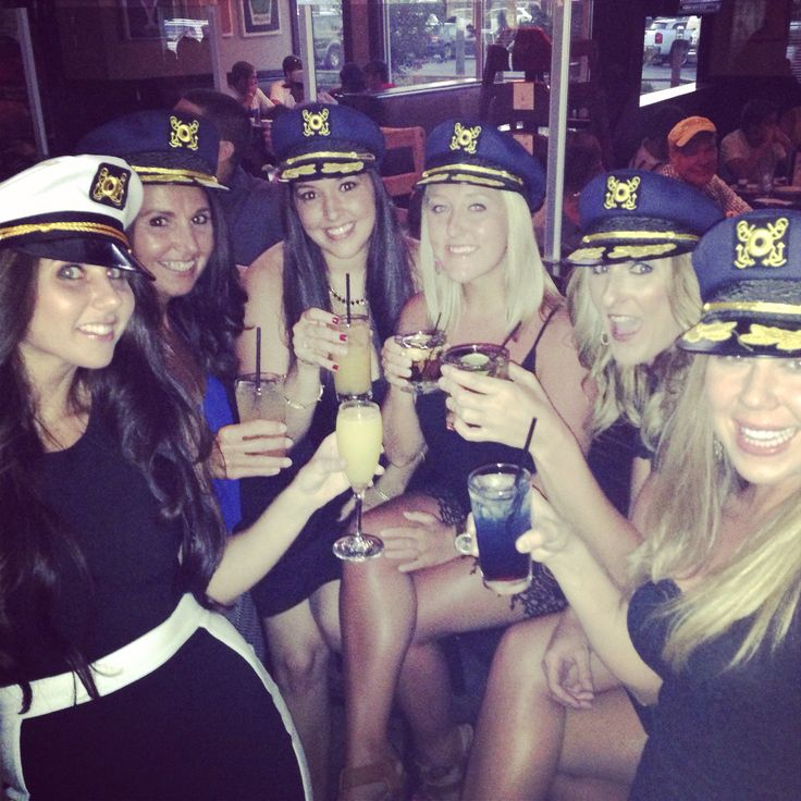 Sailor hats. Bachelorette party.
