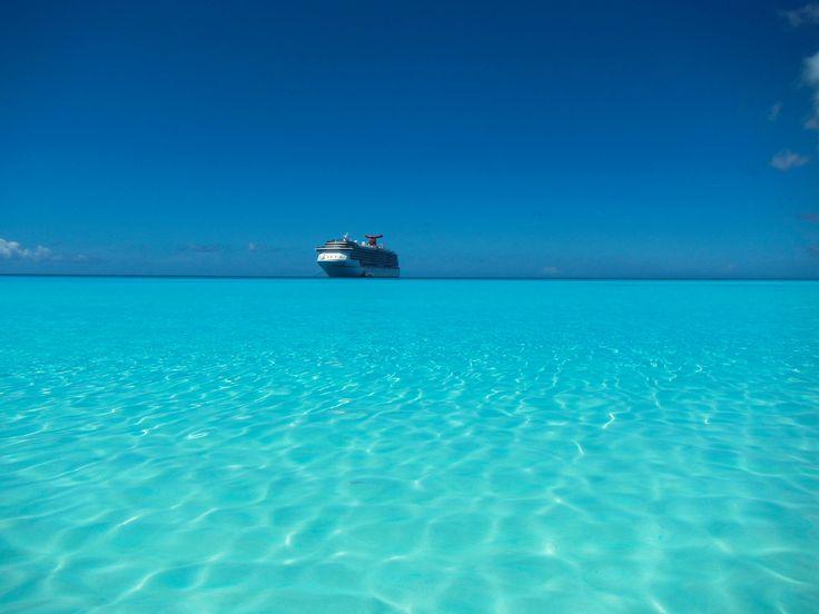 Carnival Pride at Half Moon Cay, Bahamas - The ship we'll be on :)