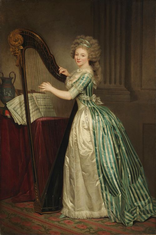 Self portait by Rose-Adelaide Ducreux (1790)