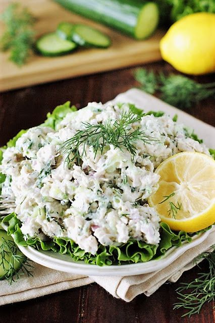 Tzatziki Chicken Salad Image Recipes In 2018 Pinterest Salad