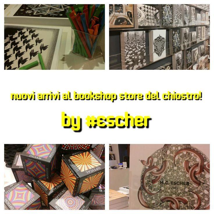 Nuovi gadget museali, originali e da collezione by #ESCHER al #Bookshop Store del Chiostro! Aperto tutti i giorni