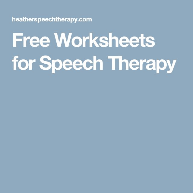 The 147 best images about Speech therapy on Pinterest ...