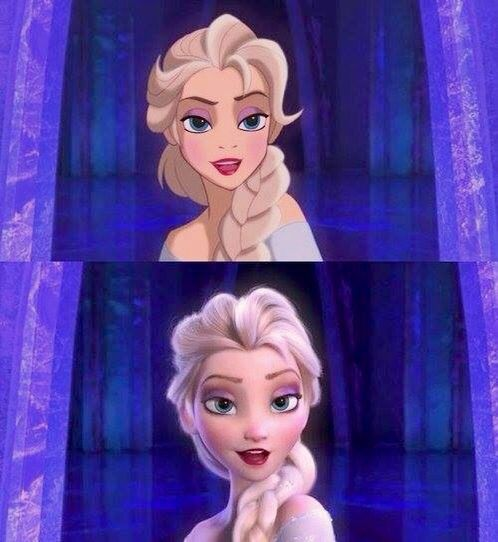 Elsa in old animation style