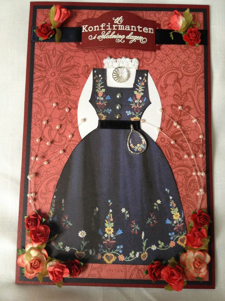 Kristinas kortblogg: Konfirmasjonskort med Lofotbunad