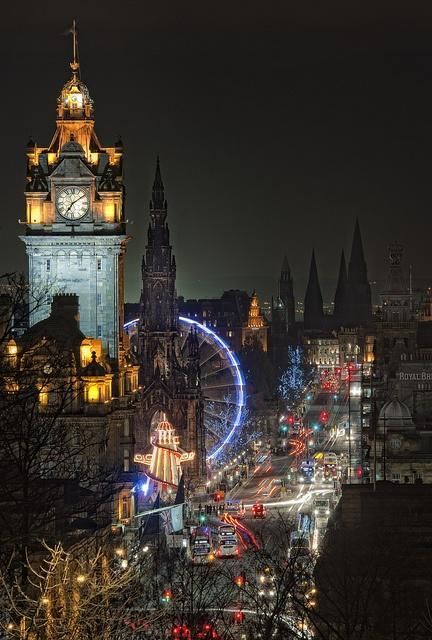 Winter night at Edinburgh, Scotland