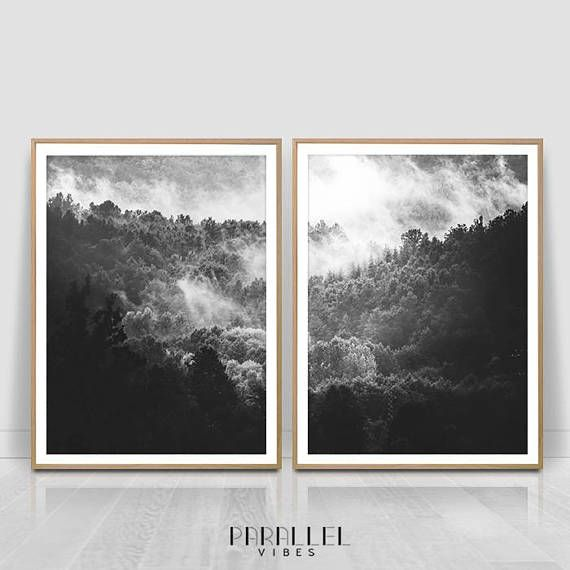 Check out this item in my Etsy shop https://www.etsy.com/listing/566099404/dark-forest-black-and-white-misty-forest