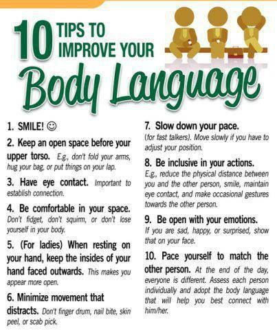 10 tips to improve your body language manifesto self improvement communication awareness - Preparing For A Job Interview Body Language