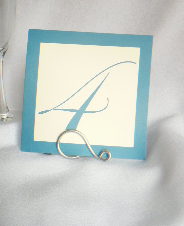 Items Similar To Simple Silver Table Number Holders Weddings Events 5 On Etsy