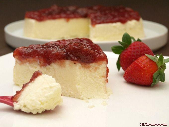 Cheesecake ligero - MisThermorecetas