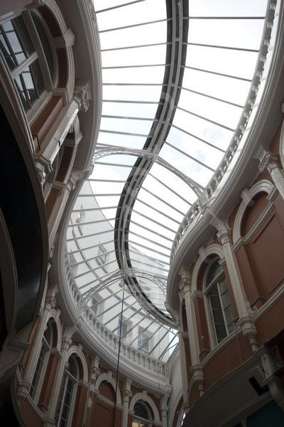 Morgan Arcade; Pitched Glass Roof Cardiff; Wales; United Kingdom. 1896