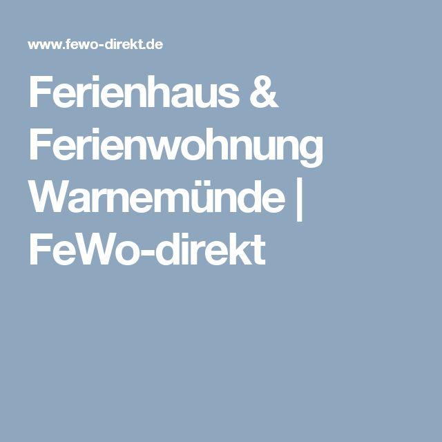 Ferienhaus & Ferienwohnung Warnemünde | FeWo-direkt