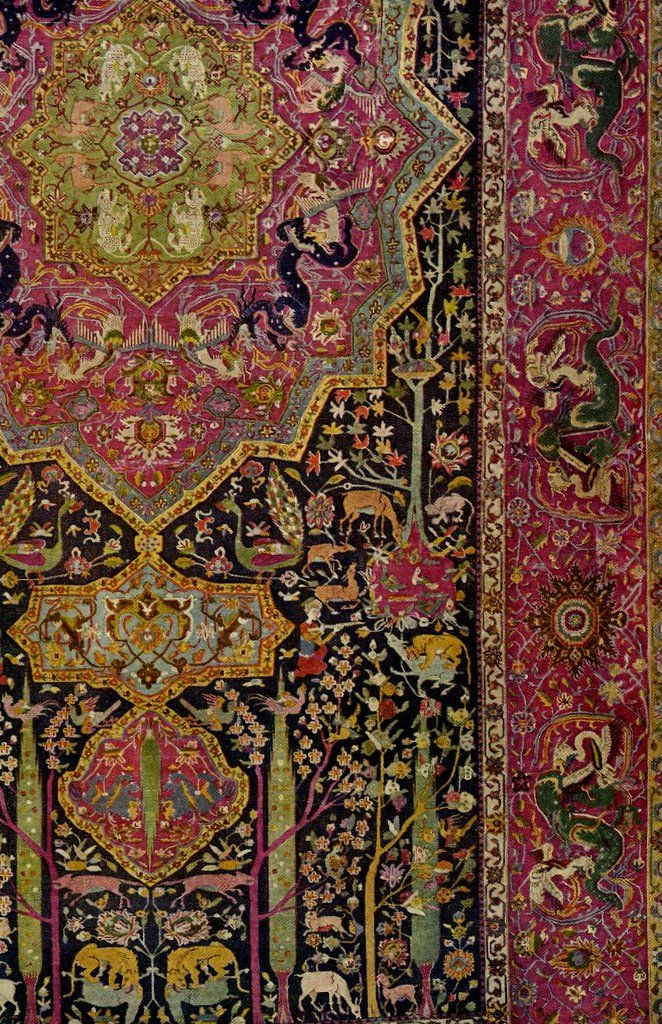 winged-serpent:  vintagehomes:  sixteenth century persian carpet  I want all of the Persian carpets.