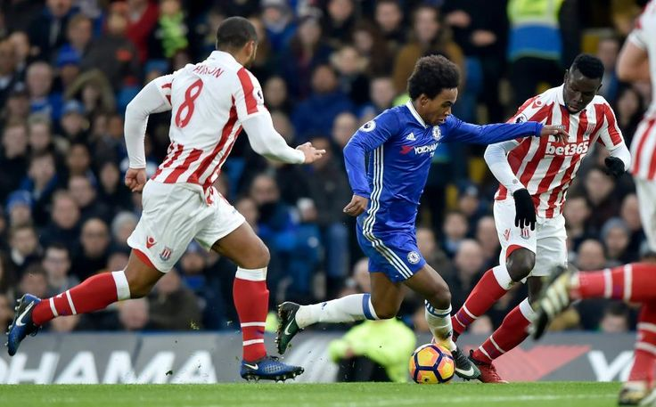 Premier League results: Chelsea 4-2 Stoke Manchester United 2-1 Middlesbrough Swansea 0-3 Bournemouth Burnley 4-1 Sunderland Southampton 1-2 West Brom Leicester 1-0 West Ham