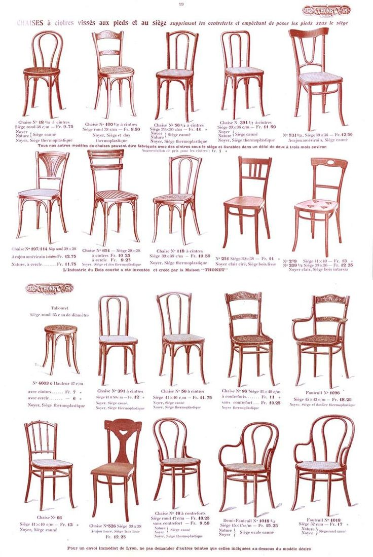 #Epok#Thonet # page des chaises du catalogue Thonet 1914