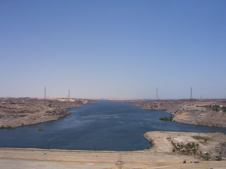 Aswan Dam crossing the River Nile..the longest river in the world