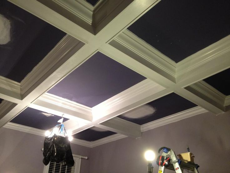 Coffered Ceiling - step by step | Coffer, Ceiling and Coffered ceilings