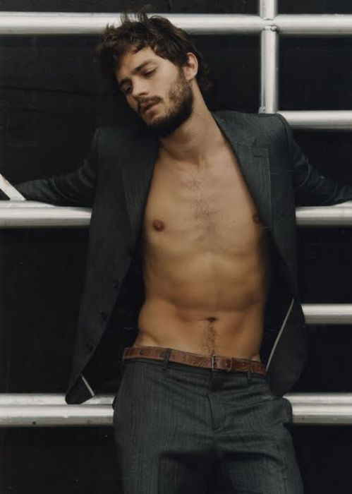 Jamie Dornan....ok so maybe he's Christian Grey material after all:) cannot wait for the movie!