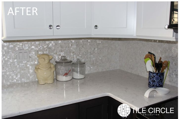 Beautiful Mother of Pearl Tile for Home improvement: Top Knobs And White…