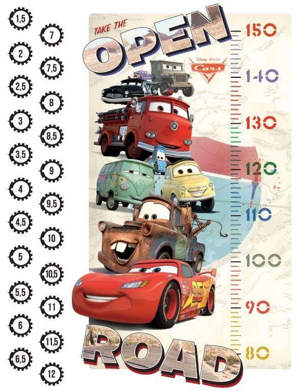 Decora la Cameretta del tuo Bambino con questi bellissimi stickers murali con i protagonisti del film pixar Cars, Personalizza le Pareti e al contempo misura la crescita con il metro adesivo.  Sono Facilissime da applicare e  possono essere attaccate e staccate pù volte,su più superfici senza lasciare segni. Contiene diversi Adesivi tutti già sagomati sia grandi che con particolari piccoli.