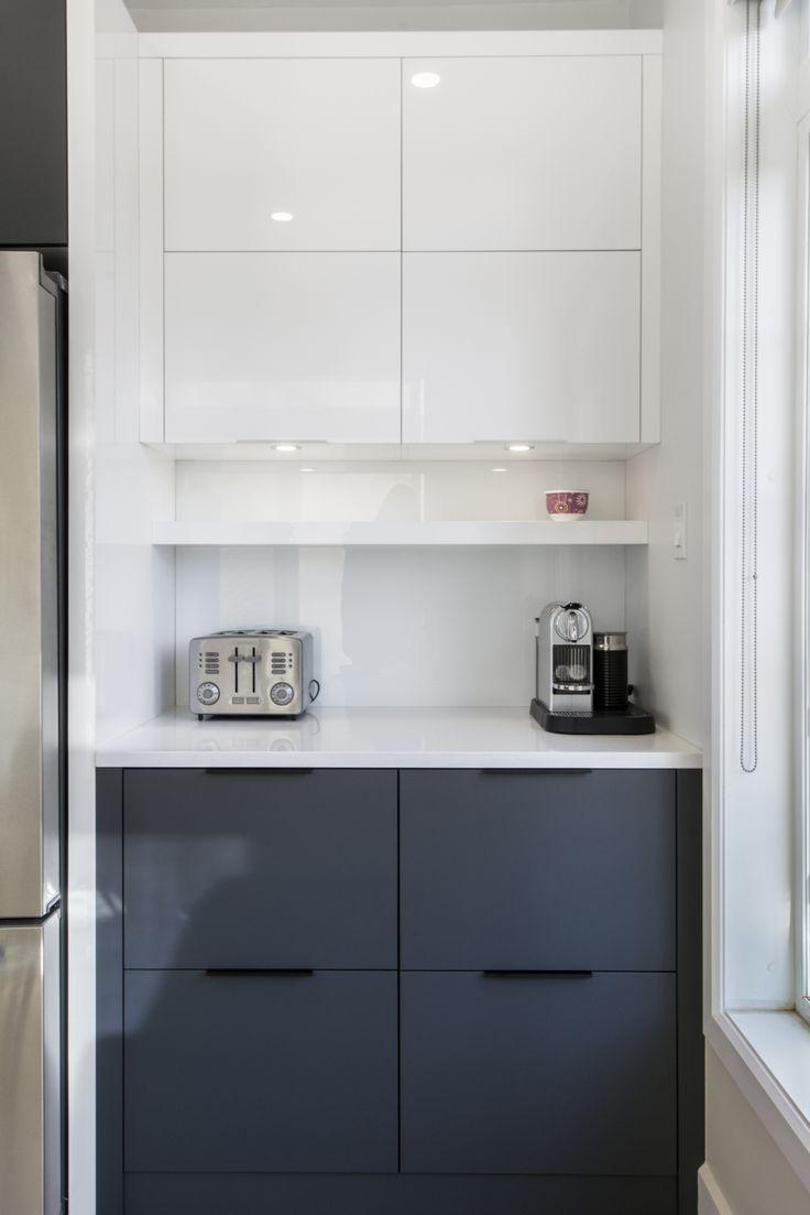 Modern minimalist kitchen in Laval, Quebec, Canada. Photo: Alexandra Pelletier