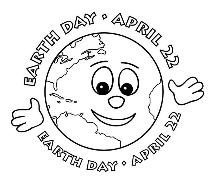 Earth Day April Coloring Pages For Kids Printable