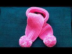 ВЯЗАНИЕ СПИЦАМИ!Детский  ШАРФ!Для начинающих! .ne, Knitting.KINDER-SCHAL