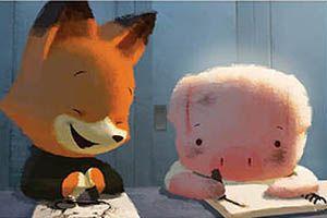 Pig and Fox Giclée - The Dam Keeper