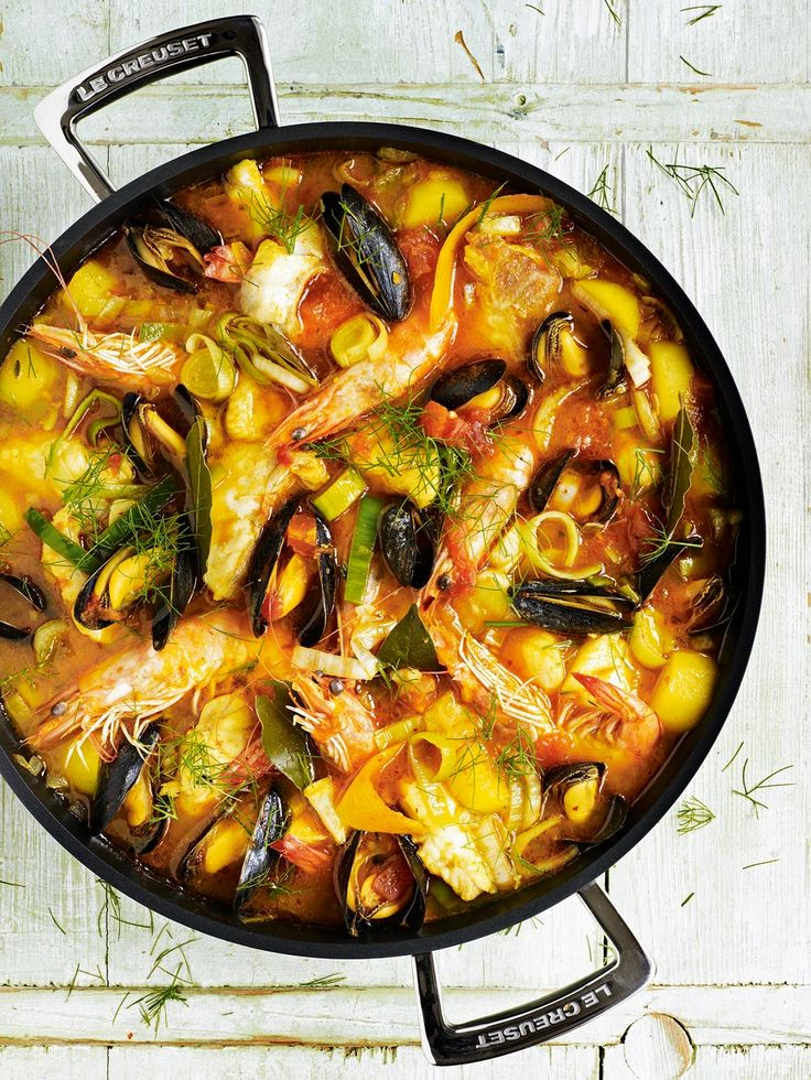 Debbie Major's bouillabaisse recipe is a French classic. Serve with rouille (a spiced garlic and red pepper mayonnaise) and a sprinkling of cheese.