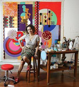 2008 é um ano de ouro para a pintora Beatriz Milhazes:  um de seus quadros foi leiloado por 1 milhão de dólares  e ela ganha uma mostra em São Paulo a partir desta  semana. Depois, vai a Nova York, Londres, Tóquio...