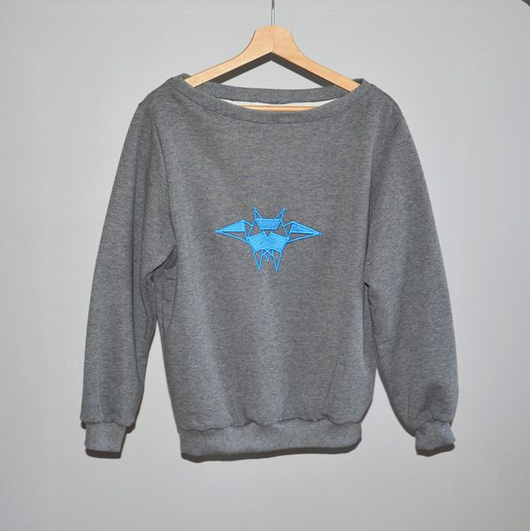 Bluza haftowana - Niebieska Sowa w BLOUZ  na DaWanda.com