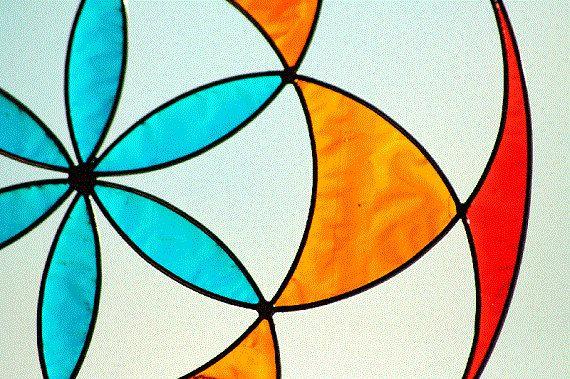 suncatcher seed of life mandala sacred geometry by Mownart on Etsy
