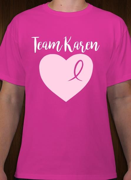 f1ba2f58 Breast cancer support team t-shirt idea and template. Personalize online.