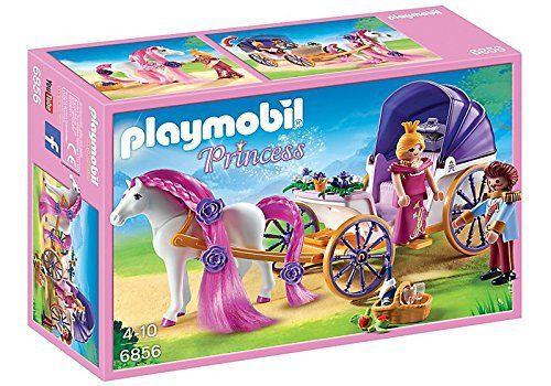 Playmobil – 6856 – Jeu – Calèche Royale+ Cheval à Coiffer: La princesse et le prince partent en promenade à bord de leur calèche royale.…