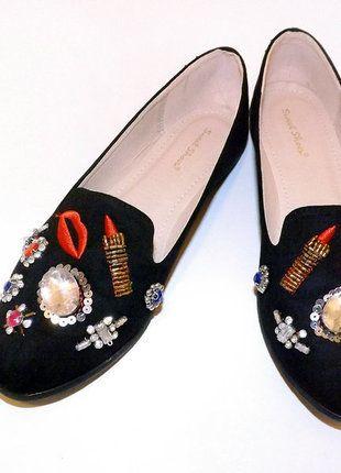 Kup mój przedmiot na #vintedpl http://www.vinted.pl/damskie-obuwie/balerinki/17429696-oryginalne-czarne-baleriny-z-ozdobami-39
