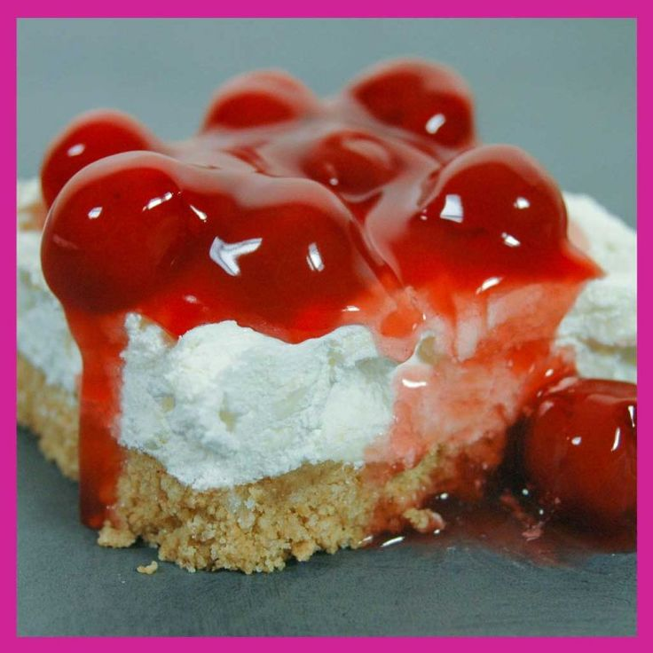 Easy no-bake delicious cherry delight. Great party dessert ...