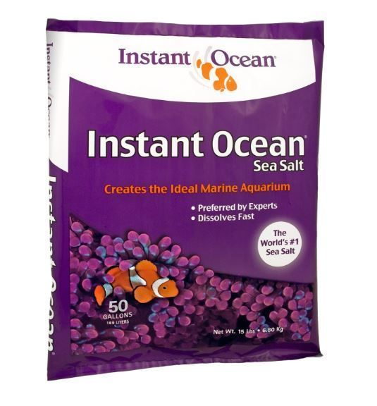 Instant Ocean Sea Salt Mix 50 Gallon Saltwater Aquarium Supplies For Big Tanks #InstantOcean
