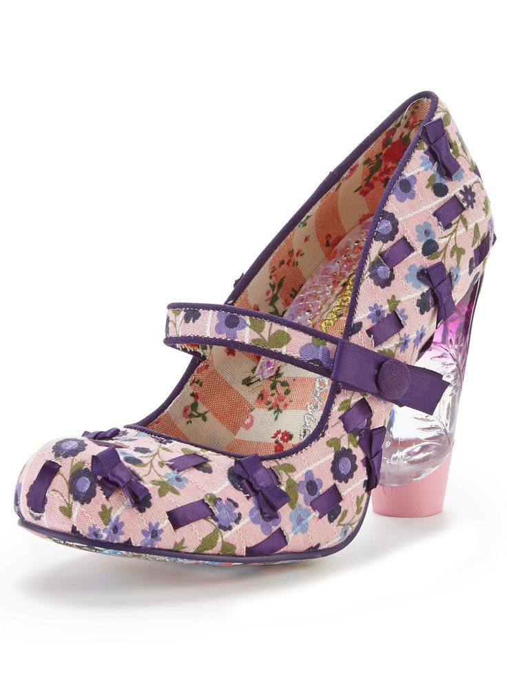 Irregular Choice Secret Pair Printed Court Shoes | very.co.uk