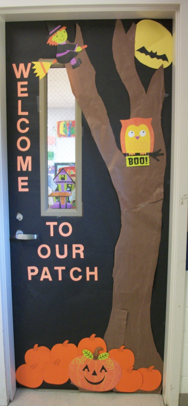 13 best images about door decoration on Pinterest Fall door - classroom door halloween decorations