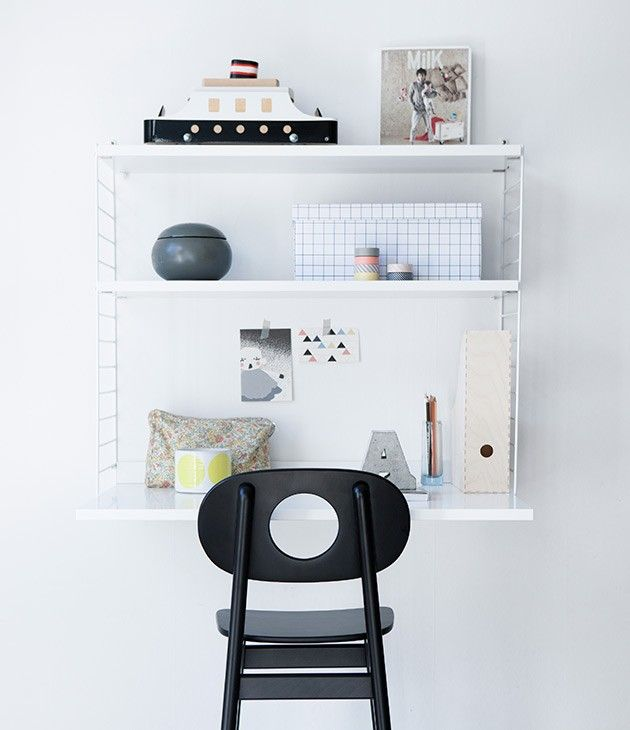 Wall Mounted Desk Leika Hukit Chair/Remodelista