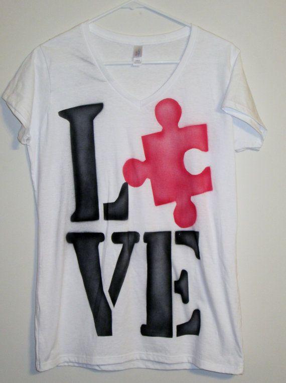 Autism Awareness Tee shirt  Puzzle by SundayBestClothingCo on Etsy, $22.00