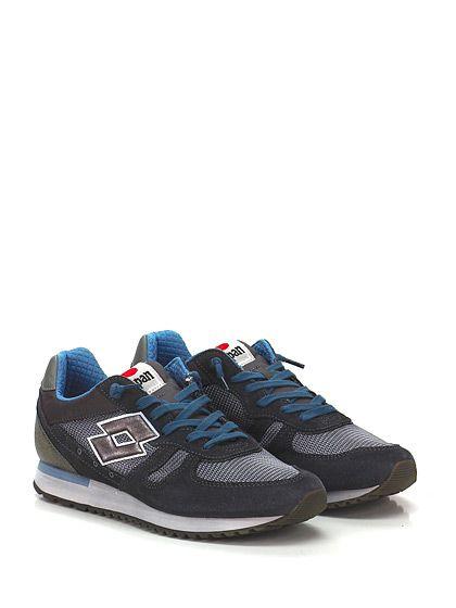 LOTTO LEGGENDA - Sneakers - Uomo - Sneaker in pelle, camoscio e tessuto con suola in gomma. Tacco 30, platform 20 con battuta 10. - CEMENTO