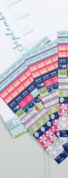 These pretty school-themed calendar & diary reminder stickers make remembering all the new school term info children's play!