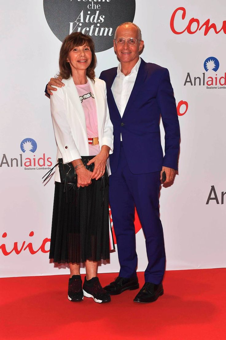 Cristina Rubini with her husband PINKO President Pietro Negra at Convivio 2016 launch event
