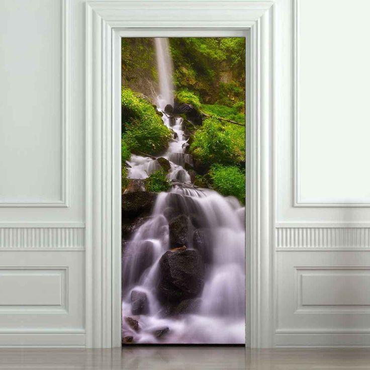 Removable Waterfall Door Mural Wallpaper Wall Sticker Self Adhesive 90*210cm | Home & Garden, Home Décor, Decals, Stickers & Vinyl Art | eBay!
