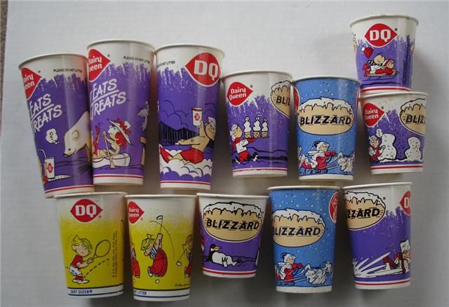 Vintage Dennis the Menace Dairy Queen Blizzard! Everytime I visited my grandma in texas we had these cups!