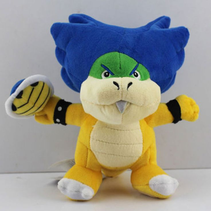 "Find More Movies & TV Information about New 1 PCS Super Mario Bros Browser Koopa Ludwig Blue Turtle Shell Plush Doll Koopalings Figure Kids Toys Approx 7.5"" Free Track,High Quality track lighting light bulbs,China track download Suppliers, Cheap toy ups from Toys in the Kingdom on Aliexpress.com"